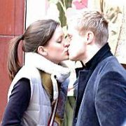Chelsea Footballer Damien Duff & Girlfriend medical student Eileen Flanagan on Grafton Street, Dublin, Ireland January 29 2005. When they realised they were being photographed they ran off and when the photographer followed Duff grabbed the photographer. EXCLUSIVE...