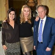 TV3 presenters Lucy Kennedy, Anna Daly & Vincent Browne have Christmas drinks & nibbles at The Shelbourne Hotel with TV3 corporate & staff members, Dublin, Ireland - 10.12.14. Pictures: Cathal Burke / VIPIRELAND.COM