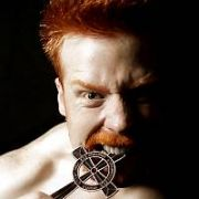 FREE TO PRESS: Enormous Irish Heavyweight Champion Wrestler Sheamus O�Shaunessy - The Irish Curse has spent the past six months knocking 7 Bells out of every top grappler in the UK & Europe and is now ready to challenge the Superstar Wrestlers from the WWE when they come back to Britain & Ireland in November. Ireland is known internationally as The-Land-of-the-Leprechauns but with SOS ready to launch himself on the world stage he will change that perception looking like a massive Celtic Warlord stepping straight off the pages of Mythology. At Six-foot-six and nearly 20 Stones Sheamus wants to make as much noise as possible in the media and online with his website (www.sosofficial.com) to wake up the sleeping USA based giant which is the WWE and get a shot at the world title... Would you say NO to this guy? Dublin, Ireland - 08.08.06.