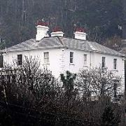 A view of Bono's house looking up from Killiney Bay, Dublin, Ireland March 31 2005.