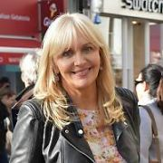 Miriam O'Callaghan seen filming for Prime Time on Grafton Street and on Mount Street Bridge, Dublin, Ireland - 20.10.16. Pictures: Cathal Burke / Jerry McCarthy / VIPIRELAND.COM **IRISH RIGHTS ONLY**