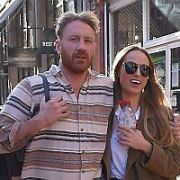 Daniella Moyles spotted having a romantic lunch with new boyfriend Maser in Ukiyo karaoke bar on Exchequer Street, Dublin, Ireland - 07.04.17. Pictures: Cathal Burke / VIPIRELAND.COM **IRISH RIGHTS ONLY**