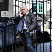 CEO of Newstalk Tim Collins seen getting on his motorbike outside the radio studios after it was reported he has stepped-down as chief executive of Newstalk, Dublin, Ireland - 12.04.17. Pictures: Cathal Burke / VIPIRELAND.COM **IRISH RIGHTS ONLY**