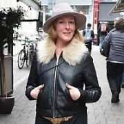 Katherine Lynch spotted on Coppinger Row, Dublin, Ireland - 19.04.17. Pictures: Cathal Burke / VIPIRELAND.COM **IRISH RIGHTS ONLY**