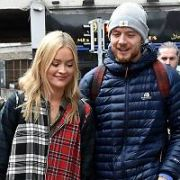 Laura Whitmore seen walking on Exchequer Street with a mystery man, Dublin, Ireland - 20.04.17. Pictures: Cathal Burke / VIPIRELAND.COM **IRISH RIGHTS ONLY**