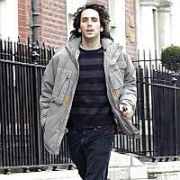 EXCLUSIVE: The Thrills Guiatarist Daniel Ryan runs past The Merrion Hotel, Dublin, Ireland April 09 2005.