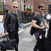 Nashville TV series actors Clare Bowen (with fiance Brandon Robert Young), Chris Carmack and Sam Palladio spotted at The Merrion Hotel ahead of their concert in 3Arena tonight, Dublin, Ireland - 19.06.17. Pictures: Cathal Burke / VIPIRELAND.COM **IRISH RIGHTS ONLY**