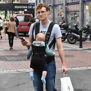 Web Summit founder Paddy Cosgrave seen walking with his baby Cloud near The Westbury Hotel, Dublin, Ireland - 23.06.17. Pictures: Cathal Burke / VIPIRELAND.COM **IRISH RIGHTS ONLY**
