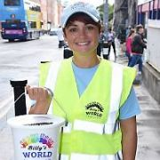 Fiona O'Carroll walking on Dorset Street as part of her 5 day trek from Dublin to Belfast in aid of Billy's World charity, Dublin, Ireland - 18.08.17. Pictures: Cathal Burke / VIPIRELAND.COM **IRISH RIGHTS ONLY**