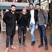 Irish band Kodaline film a Tour of Dublin video for Tourism Ireland & Vevo at The Georges Street Arcade, Dublin, Ireland - 29.08.17. Pictures: Cathal Burke / VIPIRELAND.COM **IRISH RIGHTS ONLY**
