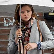 Yellow taxis and rain machines were brought in to make Smithfield look like a wet downtown New York as Chloe Grace Moretz shot her scenes on Day Two of filming of Neil Jordan directed movie The Widow, Dublin, Ireland - 15.09.17. Pictures: Cathal Burke / VIPIRELAND.COM **IRISH RIGHTS ONLY**