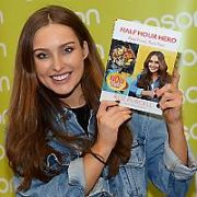 Rozanna Purcell signs her new book Half Hour Hero at Easons Dundrum, Dublin, Ireland - 01.10.17. Pictures: G. McDonnell / VIPIRELAND.COM **IRISH RIGHTS ONLY**