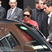 Victoria Beckham leaving at Brown Thomas via the backdoor after her Estee Lauder event, Dublin, Ireland - 04.10.17. Pictures: Cathal Burke / VIPIRELAND.COM **IRISH RIGHTS ONLY**