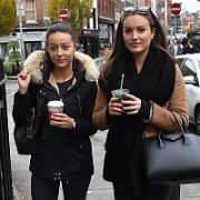 Holly Carpenter and her personal trainer Sophie Kavanagh spotted walking near South William Street, Dublin, Ireland - 20.11.17. Pictures: Cathal Burke / VIPIRELAND.COM **IRISH RIGHTS ONLY**