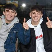 Irish X Factor contestants Sean and Conor Price spotted outside RTE studios canteen after being booted off the show, Dublin, Ireland - 27.11.17. Pictures: Cathal Burke / VIPIRELAND.COM **IRISH RIGHTS ONLY**