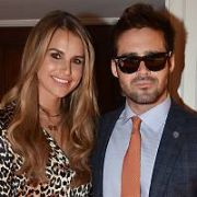 Vogue Williams & Spencer Matthews and Nicky Byrne attend The Marketing Society Annual Christmas Lunch and Research Excellence Awards 2017 at The Shelbourne Hotel, Dublin, Ireland - 01.12.17. Pictures: Cathal Burke / VIPIRELAND.COM **IRISH RIGHTS ONLY**