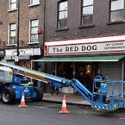Filming was cancelled on the set The Rhythm Section today on Meath Street as sources on set suggested that lead actress Blake Lively had injured her hand and may have even broken a finger while shooting the thriller, Dublin, Ireland - 04.12.17. Pictures: Cathal Burke / VIPIRELAND.COM **IRISH RIGHTS ONLY**