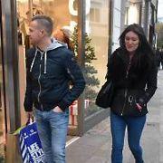 Nicky Byrne & wife Georgina Byrne seen doing a spot of Christmas shopping on Grafton Street, Dublin, Ireland - 04.12.17. Pictures: Cathal Burke / VIPIRELAND.COM **IRISH RIGHTS ONLY**