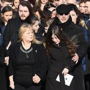 Dolores O'Riordan funeral at Church of Saint Ailbe in Ballybricken, Co Limerick, Ireland - 23.01.18. Pictures: G. McDonnell / VIPIRELAND.COM **IRISH RIGHTS ONLY**