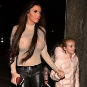 Katie Price and daughter Princess Tiaamii were among guests at The Ray Darcy Show, RTE, Dublin, Ireland - 10.02.18. Pictures: G. McDonnell / VIPIRELAND.COM **IRISH RIGHTS ONLY**