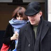 Australian actor James Frecheville & glamour model girlfriend Seren Haf Gibson at The Merrion Hotel, Dublin, Ireland - 22.02.18. Pictures: Cathal Burke / VIPIRELAND.COM **IRISH RIGHTS ONLY**