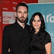 Courteney Cox and fiance Johnny McDaid at IMRO Awards at The Gibson Hotel, Dublin, Ireland - 22.02.18. Pictures: G. McDonnell / VIPIRELAND.COM **IRISH RIGHTS ONLY**