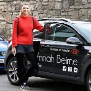 DWTS contestants Alannah Beirne & Jake Carter at Dublin City rehearsal dance studios with their sponsored and personalised vehicles, Dublin, Ireland - 23.02.18. Pictures: Cathal Burke / VIPIRELAND.COM **IRISH RIGHTS ONLY**