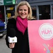 Nuala Carey seen filming a Mother's Day themed National Lottery segment on Grafton Street, Dublin, Ireland - 06.03.18. Pictures: Cathal Burke / VIPIRELAND.COM **IRISH RIGHTS ONLY**