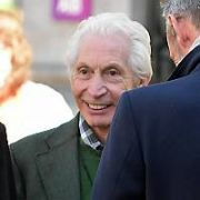 The Rolling Stones drummer Charlie Watts takes a Walking Tour of Dublin taking-in Dublin Castle and surrounding areas, Dublin, Ireland - 16.05.18. Pictures: Cathal Burke / VIPIRELAND.COM **IRISH RIGHTS ONLY**