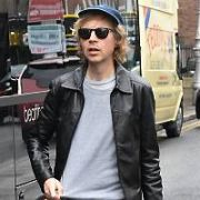 US singer Beck treated his band and crew to a Teddy's Ice-cream truck outside The Merrion Hotel following his gig at 3Arena last night. Spotted amongst Beck's gang was Big Bang Theory actress Kate Micucci, Dublin, Ireland - 24.05.18. Pictures: Cathal Burke / VIPIRELAND.COM **IRISH RIGHTS ONLY**