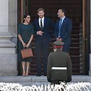 Prince Harry and Meghan Markle visit the Taoiseach Leo Varadkar at Government Buildings as part of their Royal visit, Dublin, Ireland - 10.07.18. Pictures: Cathal Burke / VIPIRELAND.COM **IRISH RIGHTS ONLY**