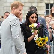 Prince Harry and Meghan Markle meet crowds of well-wishers at Trinity College after visiting The Books of Kells and then have an unplanned lunch at Delahunt restaurant on Camden Street, Dublin, Ireland - 11.07.18. Pictures: Cathal Burke / VIPIRELAND.COM **IRISH RIGHTS ONLY**