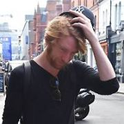 Actor Domhnall Gleeson spotted walking on Drury Street, Dublin, Ireland - 26.07.18. Pictures: Cathal Burke / VIPIRELAND.COM **IRISH RIGHTS ONLY**