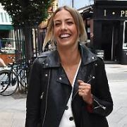 Newly engaged Blathnaid Treacy spotted on South William Street and shows-off her new engagement ring, Dublin, Ireland - 07.08.18. Pictures: Cathal Burke / VIPIRELAND.COM **IRISH RIGHTS ONLY**