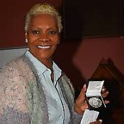 Dionne Warwick receives the Burke Medal for outstanding contribution to the Arts from the Trinity College Historical Society, Trinity College, Dublin, Ireland - 10.09.18. Pictures: Cathal Burke / VIPIRELAND.COM **IRISH RIGHTS ONLY**
