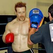 FREE-TO-PRESS: Two-Time Irish Heavyweight Wrestling Champion Sheamus O'Shaunessy teamed up with Six-Time Irish Senior Boxing Champion Kenneth Egan for a work out and sparring session at The National Stadium Gym. SOS is using boxing training techniques to improve his foot speed in the ring and who better to train him than our Light Heavyweight Boxing Champ and Ireland's favourite for Olympic Qualification in Beijing 2008, Dublin, Ireland - 27.11.06.