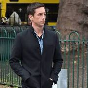 Sarah Greene & Killian Scott spotted on the set of Dublin Murders - a BBC TV Series, Dublin, Ireland - 03.10.18. Pictures: Cathal Burke / VIPIRELAND.COM **IRISH RIGHTS ONLY**