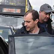 Tom Vaughan Lawlor & Sarah Greene seen getting off the Dart in Bray after filming scenes on a train on the set of Dublin Murders - a BBC TV Series, Dublin, Ireland - 04.10.18. Pictures: Cathal Burke / VIPIRELAND.COM **IRISH RIGHTS ONLY**