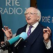 All six Irish Presidential candidates together for the first time on RTE Radio 1 with President Michael D Higgins, Sean Gallagher, Joan Freeman, Gavin Duffy, Liadh Ni Riada, and Peter Casey, Dublin, Ireland - 13.10.18. Pictures: G. McDonnell / VIPIRELAND.COM **IRISH RIGHTS ONLY**
