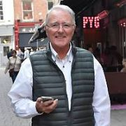 Veteran Broadcaster Mike Murphy (76) spotted walking on Coppinger Row, Dublin, Ireland - 15.10.18. Pictures: Cathal Burke / VIPIRELAND.COM **IRISH RIGHTS ONLY**