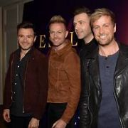 Westlife (Shane Filan, Nicky Byrne, Mark Feehily, Kian Egan) announce their comeback The Twenty Tour at The Intercontinental Hotel, Dublin, Ireland - 23.10.18. Pictures: Cathal Burke / VIPIRELAND.COM **IRISH RIGHTS ONLY**