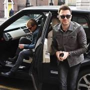 On the day Westlife sold-out Croke Park with their comeback tour Mark Feehily seen driving two of his bandmates, Kian Egan & Shane Filan, in a black Land Rover to The Merrion Hotel, Dublin, Ireland - 25.10.18. Pictures: Cathal Burke / VIPIRELAND.COM **IRISH RIGHTS ONLY**