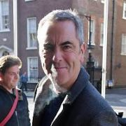 Actor James Nesbitt spotted at The Merrion Hotel. Also at the hotel was Steve Miller of The Steve Miller Band who stopped for a fan ahead of playing 3Arena tonight, Dublin, Ireland - 26.10.18. Pictures: Cathal Burke / VIPIRELAND.COM **IRISH RIGHTS ONLY**