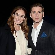 Newly engaged Allen Leech & Jessica Blair Herman were among guests on The Late Late Show, RTE, Dublin, Ireland - 26.10.18. Pictures: G. McDonnell / VIPIRELAND.COM **IRISH RIGHTS ONLY**