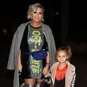 Kerry Katona at RTE to appear on the Podge & Rodge Show with daughter DJ (Dylan Jorge Kay, 4). Earlier she reported on Instagram that she was asked to prove daughter is hers after being stopped at airport due to different surnames, Dublin, Ireland - 11.11.18. Pictures: G. McDonnell / VIPIRELAND.COM **IRISH RIGHTS ONLY**