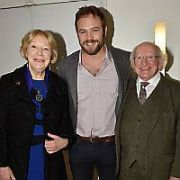 President Michael D Higgins attends IFTA screening of The Dig with members of the cast in attendance, Dublin, Ireland - 27.11.18. Pictures: Cathal Burke / VIPIRELAND.COM **IRISH RIGHTS ONLY**