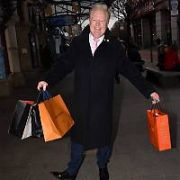 Various celebrities spotted, some designer Christmas Shopping in 2018 including Julian Simmons, Gerald Kean and Anne Doyle, Dublin, Ireland - 17.12.18. Pictures: Cathal Burke / VIPIRELAND.COM **IRISH RIGHTS ONLY**
