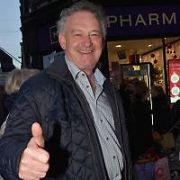 Aidan Gillen & Peter Casey spotted among the Christmas Shoppers in the Grafton Street area, Dublin, Ireland - 22.12.18. Pictures: Cathal Burke / VIPIRELAND.COM **IRISH RIGHTS ONLY**