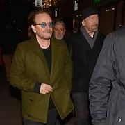 Bono & The Edge arrive for the annual Christmas Eve Busk 2018 on Grafton Street, Dublin, Ireland - 24.12.18. Pictures: Cathal Burke / VIPIRELAND.COM **IRISH RIGHTS ONLY**