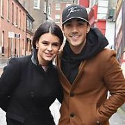 Jake Carter and his DWTS girlfriend Karen Byrne spotted walking on Camden Place, Dublin, Ireland - 07.01.19. Pictures: Cathal Burke / VIPIRELAND.COM **IRISH RIGHTS ONLY**
